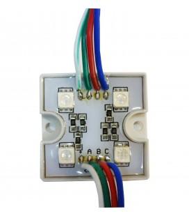 Светодиодный модуль RGB PGM5050-4LED-12В