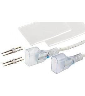 Коннектор питания 12в DC  для гибкого Led неона одноцветного (8*16 мм)