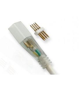 гибкое серединное соединение с проводом 15см для  для  гибкого неона  RGB 10*20мм, 10*21 мм