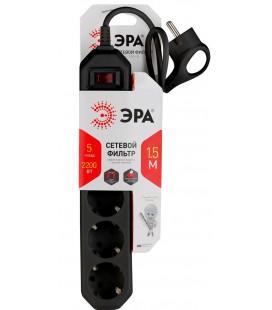 Сетевой фильтр ЭРА USF-5es-1.5m-B