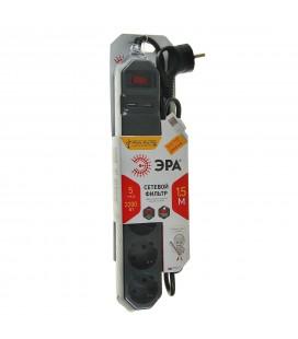 Сетевой фильтр ЭРА USF-5es-1.5m-USB-B