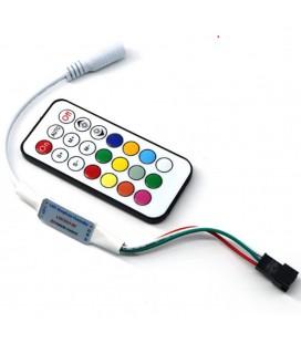 Мини Радио контроллер для SPI ленты(бегущая волна) и пикселей 5В с пультом 21 кнопка