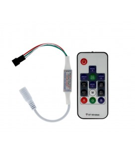 Мини Радио контроллер для SPI ленты(бегущая волна) и пикселей 5В с пультом 14 кнопок