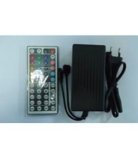RGB Контроллер (встроенный источник питания от 220 В) IR, 12 В, 6 А, 72 Вт