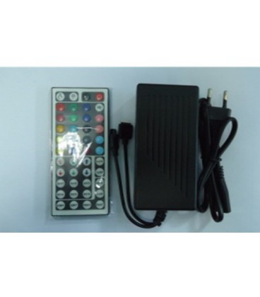 Контроллер ИК(IR) RGB c источником питания 12 вольт, пульт 44 кнопки