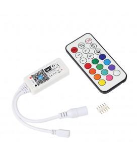 Мини Wifi +Радио контроллер RGBW/RGBW.W с пультом 21 кнопки