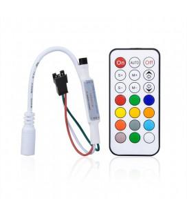 Мини ИК контроллер для SPI ленты(бегущая волна) и пикселей с пультом 21 кнопка