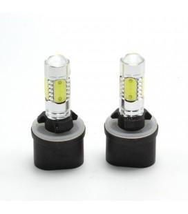 Авто LED лампа в противотуманные фары тип: COB +линза 880(H27) 7,5 Ватт
