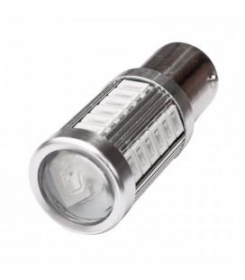 Авто LED лампа цоколь 1156(P21W, BA15S) тип: smd 5630 +линза 8 Ватт красный