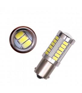 Авто LED лампа  цоколь 1157(P21/5W,BA15D)  тип: smd 5630 +линза  8 Ватт белый