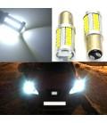 Авто LED лампа цоколь 1157(P21/5W,BAU15D) тип: smd 5630 +линза 8 Ватт белый