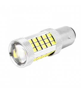 Авто LED лампа цоколь 1157(P21/5W,BAY15D) тип: smd 2835 +линза 13 Ватт белый