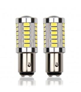 Авто LED лампа цоколь 1157(P21/5W,BAY15D) тип: smd 5630 +линза 8 Ватт