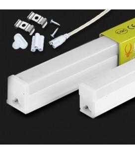 Накладной светодиодный линейный светильник T5 с возможность линейного соединения  120см-белый