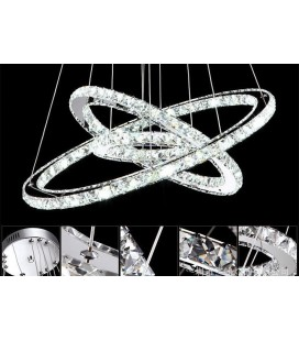 Светодиодная люстра кольца Юпитера (3 кольца)
