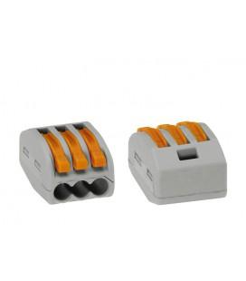 Универсальная многоразовая 3-проводная клемма 0,08-2,5(4)мм2
