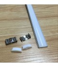 Гибкий алюминиевый профиль (2 м)+ молочный акриловый экран+ 2 заглушки+крепеж