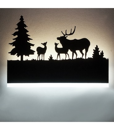 """Декоративный светильник """"Пейзаж в лесу"""" 220Вольт, 12Вт, нейтральный белый"""