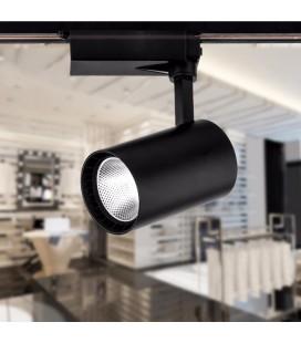 Трековый светодиодный светильник( Spotlight) 20 Вт, однофазный, черный, цвет свечения дневной белый