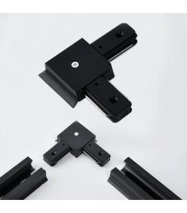 L - коннектор соединительный для шинопровода(трек-шины) однофазного, черный