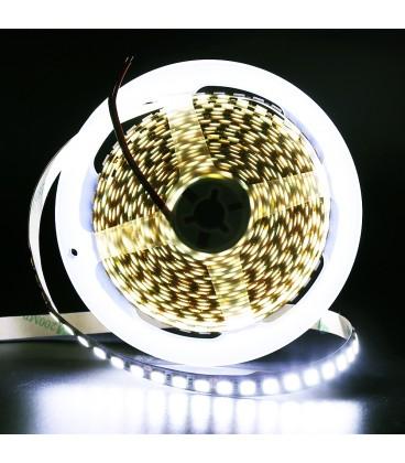 High lum Светодиодная лента SMD 5054, 120 диодов/метр, Double line ЛЮКС, 12 В, цвет: белый, IP33