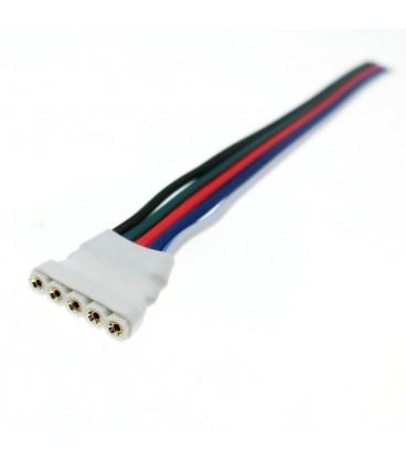 Беспаечный соединитель для ленты RGB+W (провод 10-12 см)