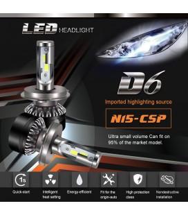 Авто LED лампы головного света тип: D6 9007(HB5) (комплект 2 лампы)