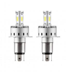 Комплект светодиодных авто LED ламп 45 Вт, головной свет COB 7P - H4