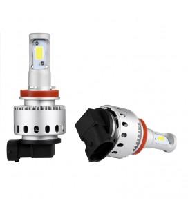 Комплект светодиодных авто LED ламп 45 Вт, головной свет COB 7P - H8