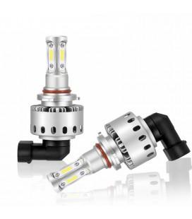 Комплект светодиодных авто LED ламп 45 Вт, головной свет COB 7P - 9005 (HB3)