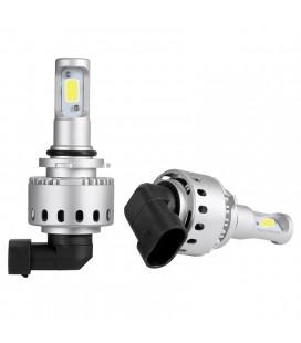 Комплект светодиодных авто LED ламп 45 Вт, головной свет COB 7P - 9006 (HB4)