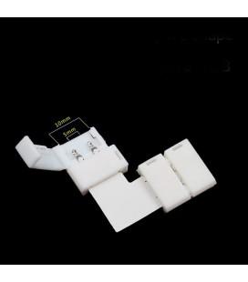 безпаечный соединитель угол для одноцветной ленты 10 мм (5050 , 5630, 7020)