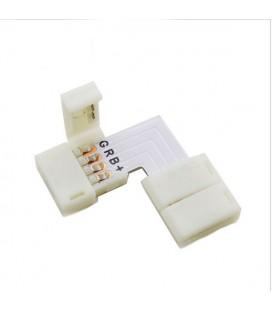 безпаечный соединитель угол для ленты RGB 10 мм