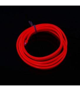 Led гибкий неон узкий (EL провод) 2,3 мм, 360 ° ,  1 м, с разъемом  для подключения