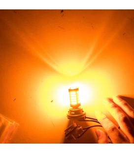 Светодиодная авто лампа 1156 (P21W, BAU15S) 2835 +линза 13 Ватт