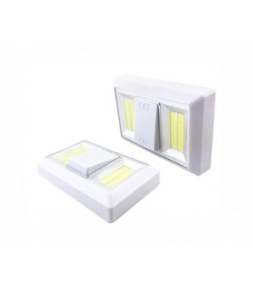 Светодиодный настенный фонарь в форме выключателя 4 диода COB с магнитным креплением,ультра яркий