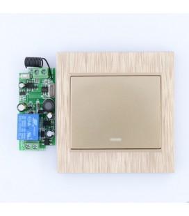 Комплект :беспроводной радио выключатель одноклавишный, золотой