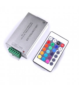 RGB Контроллер HTL-010 IR 24KEYS (Aluminum)-12A