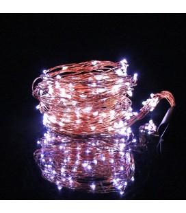 Светодиодная гирлянда Нить (Роса) Лоза ,5 нитей, 100 диодов ,2 м, 5 В, USB