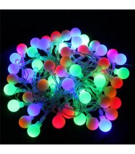"""Светодиодная гирлянда """"Шарики"""", соединяемая, 220 вольт,20 метров, 200 шариков, цвет  RGB"""