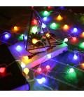 """Светодиодная гирлянда """"Шарики"""", соединяемая, 220 вольт,30 метров, 300 шариков, цвет  RGB"""