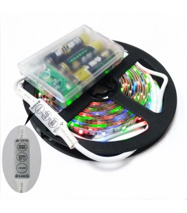 Светодиодная лента RGB, SMD 2835, 60 д/м, 6 В, IP65 c боксом для батареек и контроллером