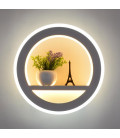 """Декоративный светильник """"Париж"""" 220Вольт, 25Вт, белый + теплый белый белый"""