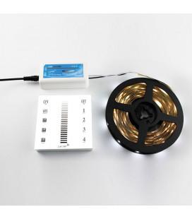 Сенсорная панель - диммер WIRELESS, накладная, 4-х зонная, 2.4 Гц