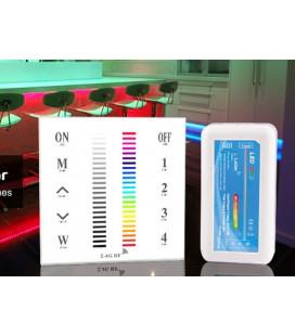 Накладная сенсорная панель для многозонных систем WIRELESS — RGB/RGBW, 4 зоны