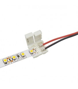 соединитель для одноцветной лентышириной 8 мм (3528,2835) с проводом 10-15 см двухсторонний