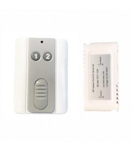Комплект : 1-1 беспроводной радио выключатель с пультом ДУ  с держателем 2 кнопки