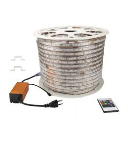 Светодиодная лента 5050-60LED-IP67-220V сверхъяркая, 10 мм (12 мм)