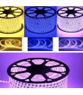 Светодиодная лента Mix White 5730-120-220В, теплый белый+синий, Два ряда,12 мм, Супер Люкс