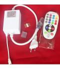 ИК контроллер для Led ленты 220 вольт лайт серия, белый, пульт 24 кнопки